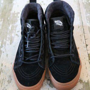 VANS SK8 Hi MTE Black Suede Leather Gum sole shoes